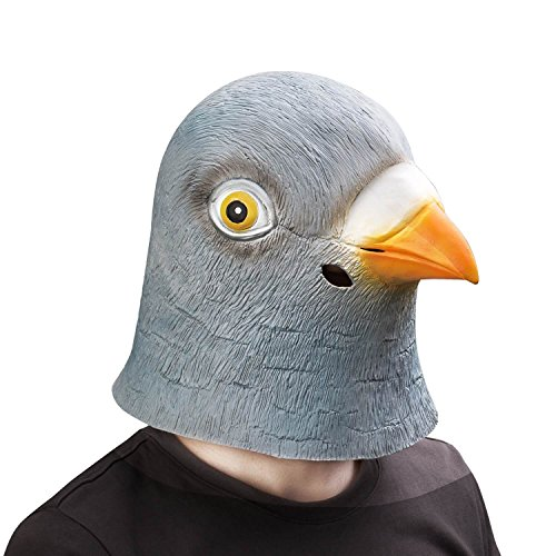 Pigeon Mask (Ylovetoys Latex Animal Mask Halloween Party Costume Pigeon Head Mask)