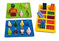 Joyoldelf Formen für Eiswürfel und Süßigkeiten, Legosteine und Figuren
