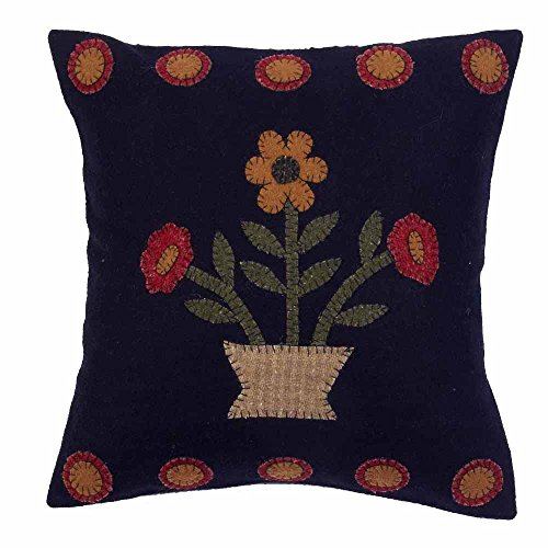(Home Collection by Raghu Blooms Black Pillow, 14