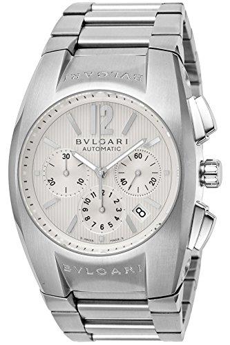 - Bvlgari Elgon White Dial Automatic Chronograph EG40C6SSDCH Men Watch