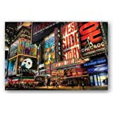 New York City Broadway Times Square Theater District Art Print Poster - 24x36