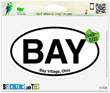 "PIB Put In Bay Ohio Oval car window bumper sticker decal 5/"" x 3/"""