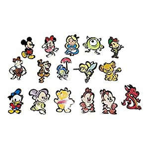 Disney Parks Cute Characters Mystery Pin Collection Bag Pack 5 Random Pins