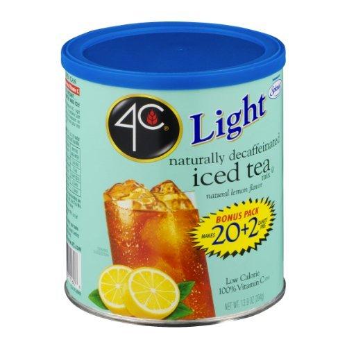 4C Light Decaffeinated Iced Tea Mix Natural Lemon Flavor