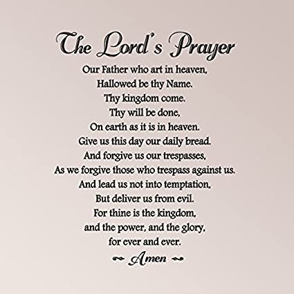 amazon com 30 x24 the lord s prayer with embellishment our father