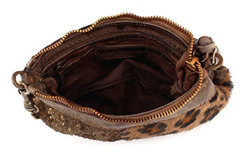 CATERINA LUCCHI Paillettes Embrayage Bag Dark Brown