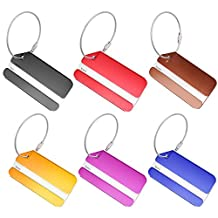 Elisona-6PCS Metal Travel Luggage Suitcase Bag Baggage ID Identifier Labels Tags Accessories