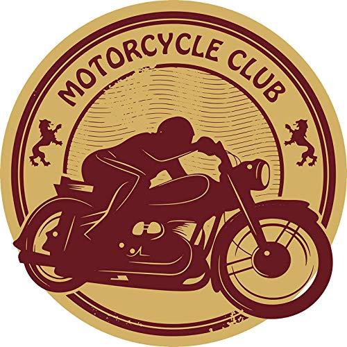 - EW Designs Cool Gold and Maroon Motorcycle Club Token Cartoon Icon Vinyl Decal Bumper Sticker (4