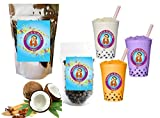 10+ Drinks Coconut Chai Boba Tea Kit: Tea Powder, Tapioca Pearls & Straws By Buddha Bubbles Boba