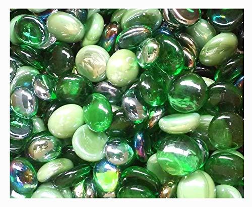 Creative Stuff Glass - 2 Lb - St Patrick's Mix Green - Glass Gems - Vase Fillers ()