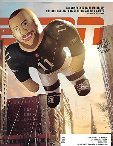 ESPN Magazine december 4 2017 {carson WEntz Cover} { Postal address label on front} (Magazine Front Cover)