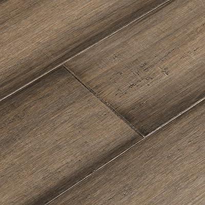 Cali Bamboo - Solid Wide T&G Bamboo Flooring, Napa Gray, Hand Scraped - Sample
