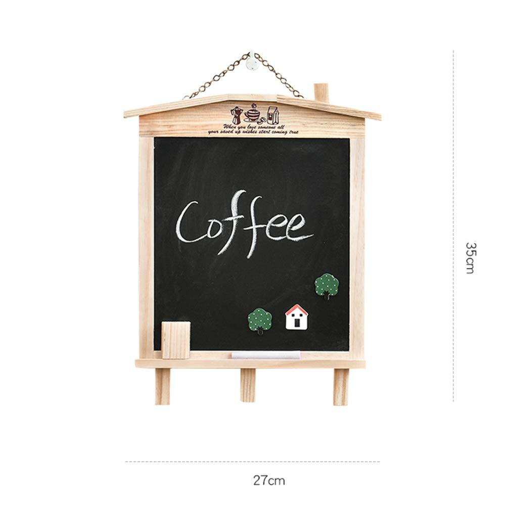 LIANGJUN Message Board Chalkboards Signs Solid Wood Hanging Bracket Coffee Shop Bar Sketchpad (Color : A, Size : 27x35cm) by LIANGJUN-lyj (Image #3)