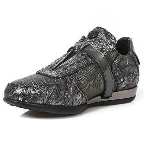 New Rock Herren Hybrid METALLIC Leder Schuhe M. hy018-s7