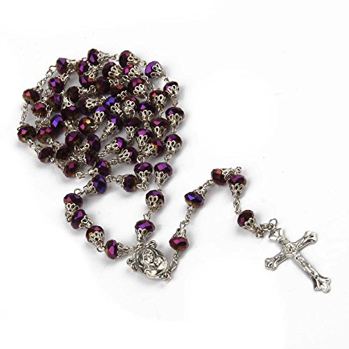 The Cross Rosary Crystal Beads Necklace By Roman Catholic Church Ecclesia Catholica (Necklace Dia Cross)