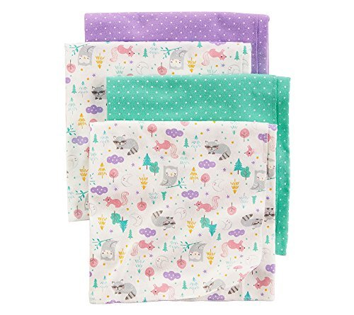 Carter's 4-Pack Receiving Blanket,Multi,One Size