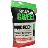 Rockin' Green Natural HE Powder Laundry Detergent for Hard Water, Perfect for Cloth Diapers, 90 Loads, Smashing Watermelons Scent, 45 oz (0.22/load)