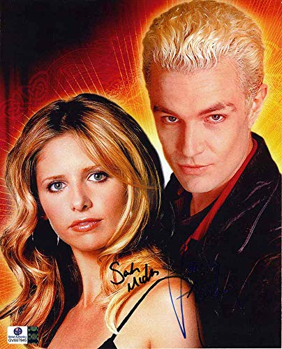 Buffy the Vampire Slayer Cast Buffy and Spike Autographed Signed 8x10 Photo Certified Authentic COA Signed by Sarah Michelle Gellar and James Marsters