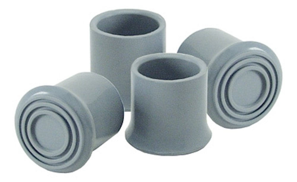 Pivit Commode Rubber Replacement Tips | Pack of 4 | Fits Any 1'' Walker Bath & Shower Seat Tubing | Added No-Slip Tread & Metal-Reinforced For Longer Wear | Revitalize Your Worn Out Unsafe Mobility Aid