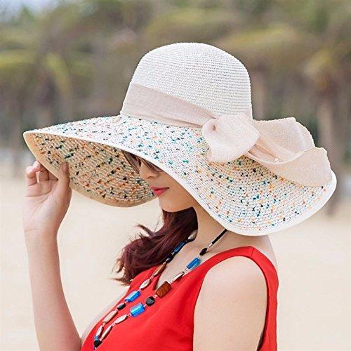 El servicio durable LOF-fei Mujer verano sombrero para el sol playa  plegable sombrero de b30d25eb8fe