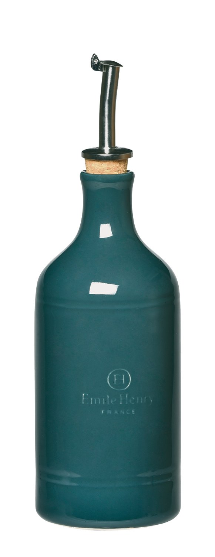 Emile Henry Made In France Oil Bottle,Blue Flame