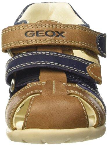 Geox B Kaytan C, Botines de Senderismo para Bebés Beige (Caramel / Navy c5gf4)