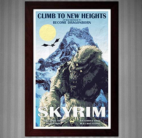 Skyrim - Become Dragonborn - Vintage Travel Poster - 11x17