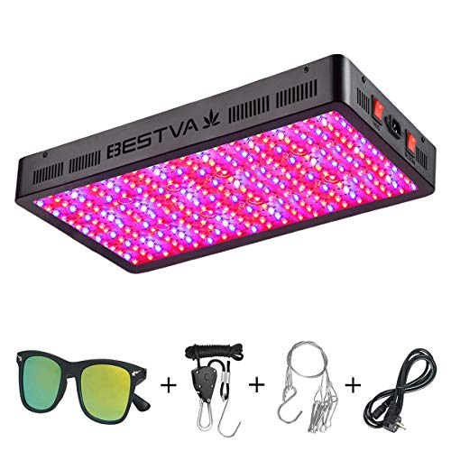 BESTVA DC Series 3000W LED Grow Light Full Spectrum Grow Lamp for Greenhouse Hydroponic Indoor Plants Veg and Flower -