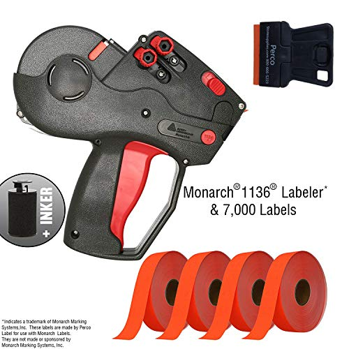 Monarch 1136 Labeler Starter Kit: Includes Price Gun, 7,000 Fluorescent Red Price Marking Labels and Preloaded Inker (Price Gun 1136)