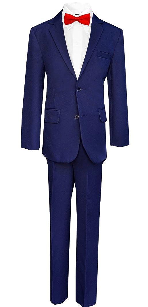Black n Bianco Big Boys Tuxedo Suit w//Bow Tie and Vest