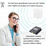 Band12/17 AT&T 4G LTE 700MHZ Cell Signal Booster Wireless FDD Cellular Mobile phone Amplifier Repeater High Gain SHWCELL Including Inside/Outside Dual Panel Antennas For Home Office Basement
