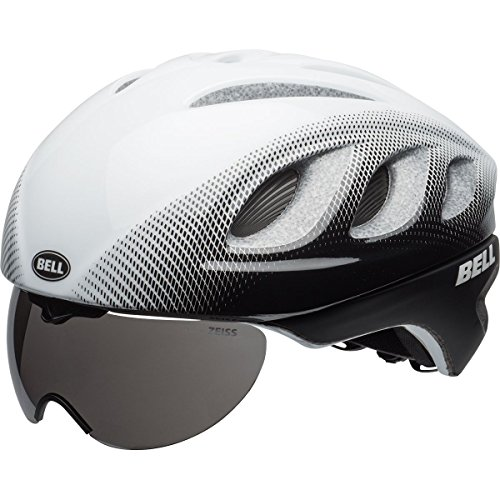 Pro Race Helmet - Bell Star Pro Race Helmet with Tinted Eye Shield 2016 Size: SMALL MATTE WHITE/BLACK