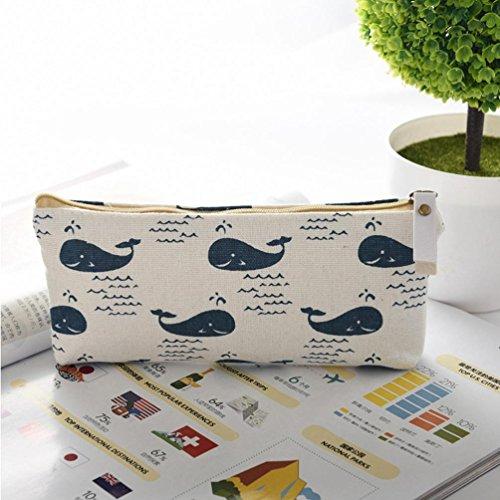 (Gbell Cute Animal Coin Bag,Girls Purse Wallet Pencil Case Box Large Canvas Pen Bag for Kids Children (A))