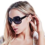 Polarized Sunglasses for Women, AkoaDa UV400 Lens Sunglasses for Female 2018 Fashionwear Pop Polarized Sun Eye Glass (Black)