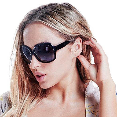 Polarized Sunglasses for Women, AkoaDa UV400 Lens Sunglasses for Female 2018 Fashionwear Pop Polarized Sun Eye Glass (Black) by AkoaDa