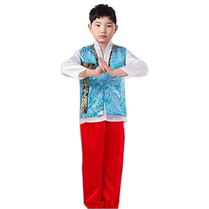Amazon.com: BOZEVON Korean Traditional Clothes Set - Boys ...