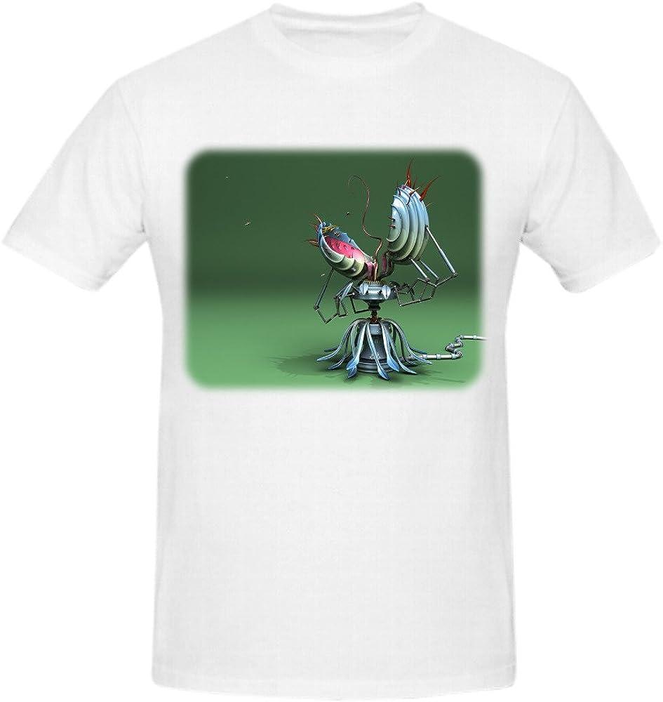 tweurh mecánico Chomper Póster diseño de para hombre o cuello camisa blanco: Amazon.es: Ropa y accesorios