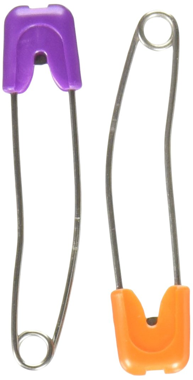 4-Count Dritz 46-66 Diaper Pins Pins Pastels, Baby Safe