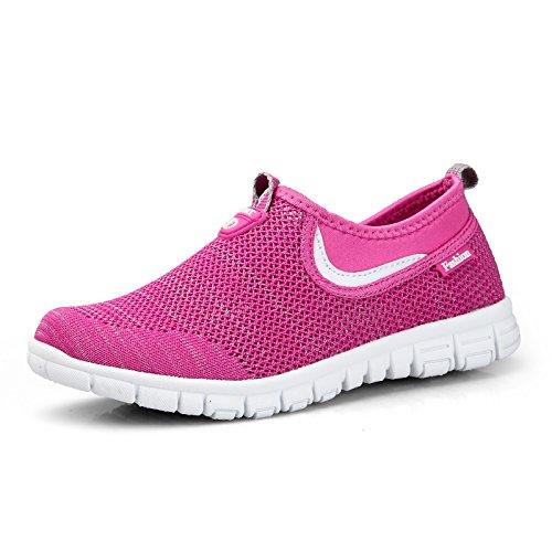para de Transpirables Zapatos Zapatos Hasag Rose Madre de Verano Mujer de Ligeros de Tela Antideslizante Deportes Zapatos Mediana Netos Caminar Edad Zapatos A1 w6dwOEq