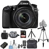 Canon EOS 80D DSLR Camera with 18-135mm IS USM Lens [International Version] (Pro Bundle)