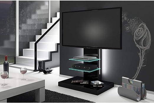 Design Fernsehtisch H 444 Schwarz Hochglanz Tv Schrank Tv Mobel Tv Rack Inkl Tv Halterung Amazon De Kuche Haushalt