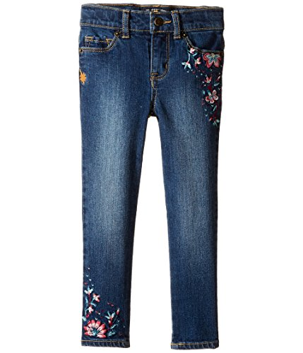 Zoe Jeans (Lucky Brand Kids Baby Girl's Zoe Jeans with Embroidery in Blue Wash (Toddler) Blue Wash Jeans)