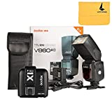Godox V860II-C 2.4G Wireless E-TTL II Li-on Camera Flash Speedlite for Canon 6D 50D 60D 1DX 580EX II 5D Mark II III+Godox X1T-C TTL Wireless Transmitter for Canon EOS series cameras