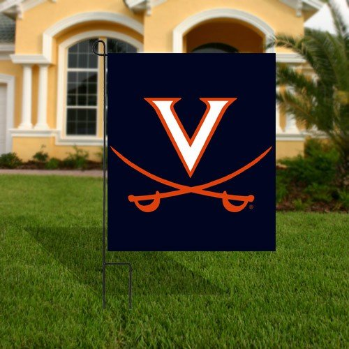 NCAA Virginia Cavaliers Navy Blue Applique Garden Flag