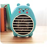 Safety Energy-saving Heater Mini Office Desktop Electric Fan Heater (blue)