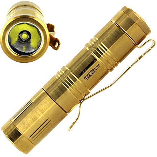 Limited-Ed-TitaniumGold-Plated-The-Best-Flashlight-Ever-Self-Defense-Farm-Survival-Hobby-Light-Camping-Equipment-Power-Outage-Kit-w-Free-5-in-1-Carabiner-Multitool-Credit-Card-Knife-Survival-Life
