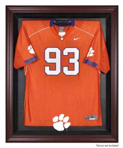 Clemson Tigers Mahogany Framed Logo Jersey Display Case