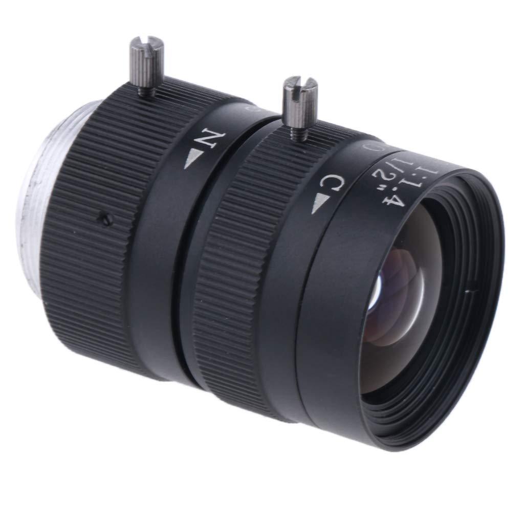 SM SunniMix 6mm 1/2インチ CS-マウントレンズ IR F/1.4 ズーム可変焦点マニュアルアイリスレンズ CCD工業カメラ用   B07KQ91CPQ