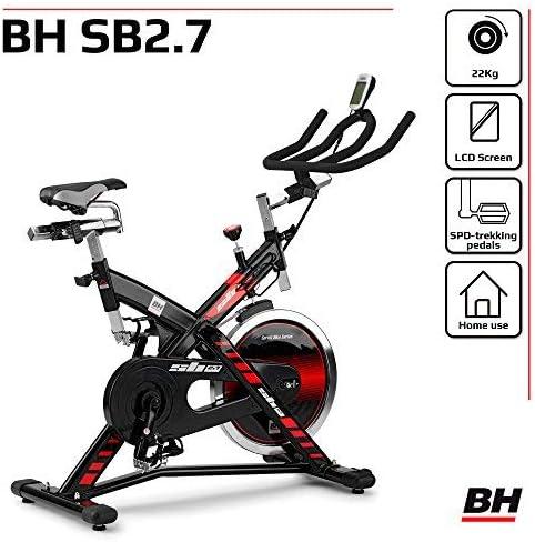 Indoorbike//Indoorcycling 22kg Schwunggewicht// PoliV-Riemen// LCD-Monitor BH Fitness SB 2.7 H9174F