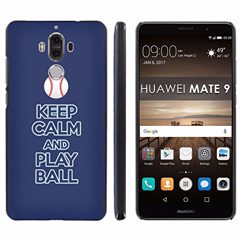 """Huawei Mate 9 Back Cover [Mobiflare] [Black] Slim Clip-On Case [Screen Protector] - [Play Ball - Tampa Bay] for Huawei Mate 9 [5.9"""" Screen]"""